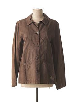 Veste casual marron MAT DE MISAINE pour femme