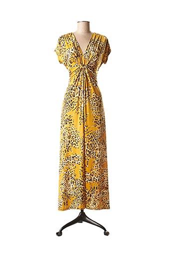 Robe mi-longue jaune FIFILLES pour femme