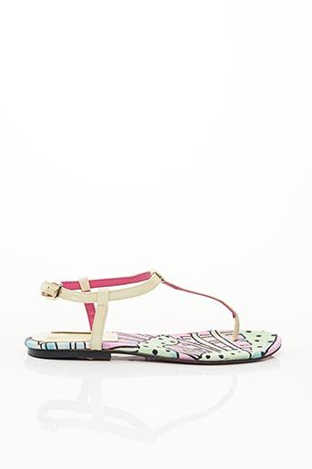 Sandales/Nu pieds beige ELMICO COVEIN pour femme