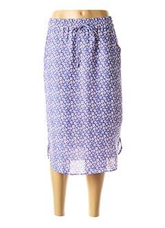 Jupe mi-longue bleu COMPAÑIA FANTASTICA pour femme