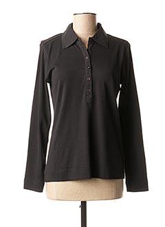 Polo manches longues noir BRANDTEX pour femme