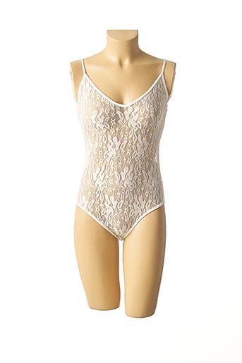 Body lingerie blanc GLAMOROUS pour femme