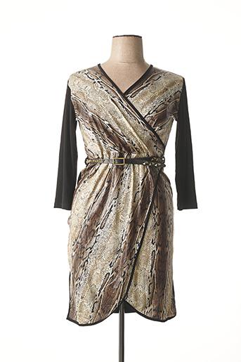 Robe mi-longue noir GLOSS LINE pour femme