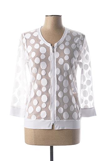 Veste casual blanc BLEU D'AZUR pour femme