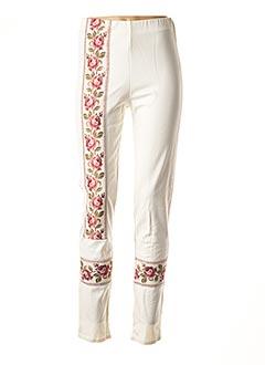 Pantalon casual beige FAUST pour femme