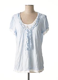 T-shirt manches courtes bleu LINEA TESINI pour femme