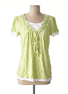 T-shirt manches courtes vert LINEA TESINI pour femme