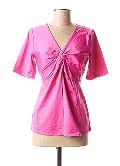 T-shirt manches courtes rose PATRIZIA DINI pour femme