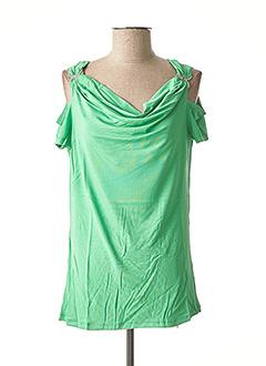 T-shirt manches courtes vert ASHLEY BROOKE pour femme
