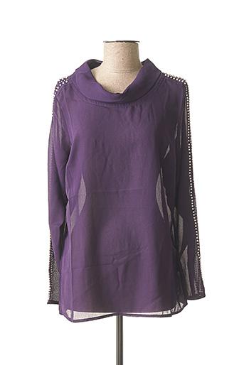 Blouse manches longues violet ASHLEY BROOKE pour femme