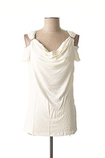 T-shirt manches courtes blanc ASHLEY BROOKE pour femme