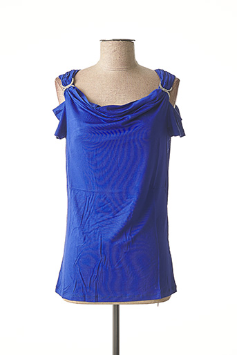 T-shirt manches courtes bleu ASHLEY BROOKE pour femme