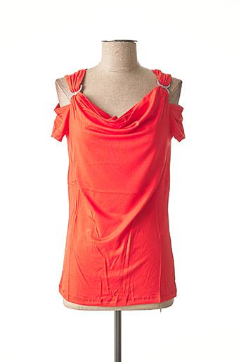 T-shirt manches courtes rouge ASHLEY BROOKE pour femme