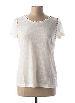 T-shirt manches courtes blanc RICK CARDONA pour femme
