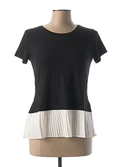T-shirt manches courtes noir RICK CARDONA pour femme
