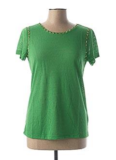 T-shirt manches courtes vert RICK CARDONA pour femme