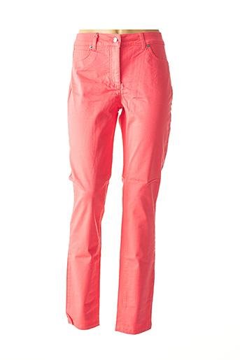Jeans coupe slim rose ASHLEY BROOKE pour femme