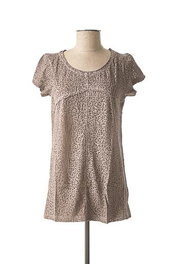 T-shirt manches courtes gris BEST CONNECTIONS pour femme