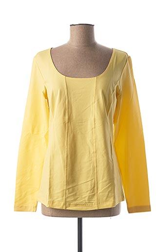 T-shirt manches longues jaune BEST CONNECTIONS pour femme