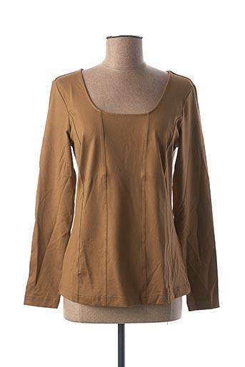 T-shirt manches longues marron BEST CONNECTIONS pour femme