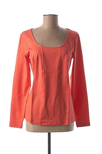 T-shirt manches longues orange BEST CONNECTIONS pour femme