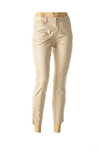 Pantalon casual beige BEST CONNECTIONS pour femme