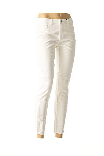 Pantalon casual blanc BEST CONNECTIONS pour femme
