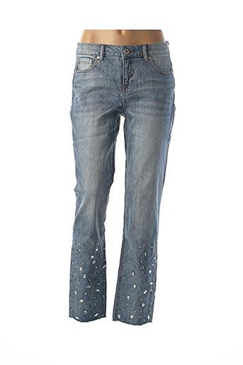 Pantalon 7/8 bleu BEST CONNECTIONS pour femme