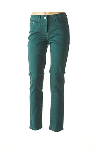 Jeans coupe slim vert BEST CONNECTIONS pour femme
