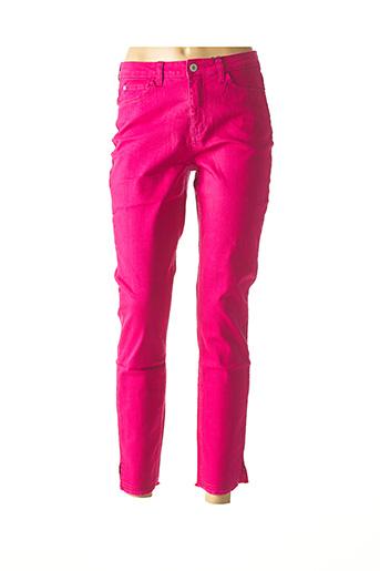 Pantalon casual violet BEST CONNECTIONS pour femme