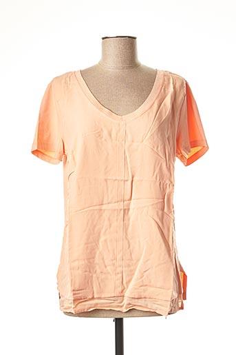 T-shirt manches courtes orange HEINE pour femme