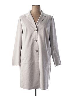 Manteau long gris HEINE pour femme