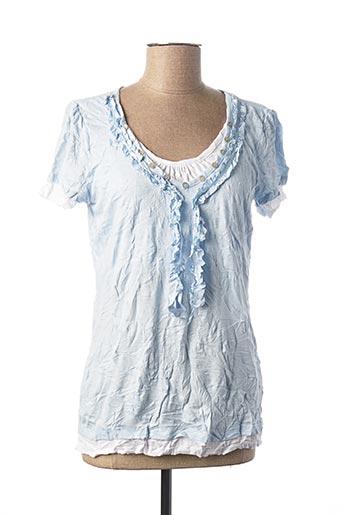 T-shirt manches courtes bleu HEINE pour femme