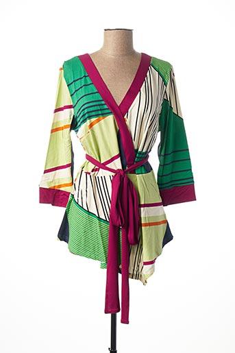 Tunique manches longues vert HEINE pour femme