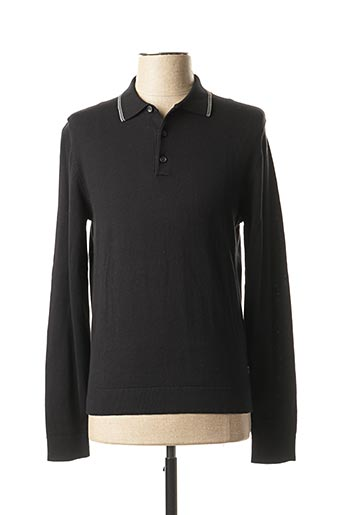 Pull col rond noir S.OLIVER pour homme