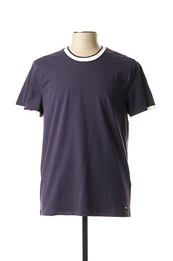 T-shirt manches courtes bleu GAUDI pour homme