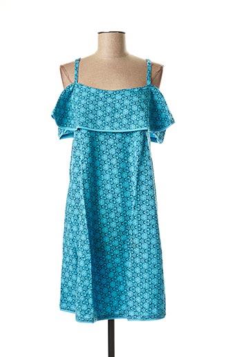 Robe mi-longue bleu BAMBOO'S pour femme