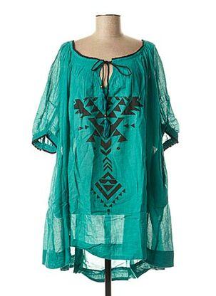 Tunique manches longues vert BAMBOO'S pour femme