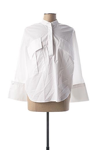 Blouse manches longues blanc EMMA & GAIA pour femme