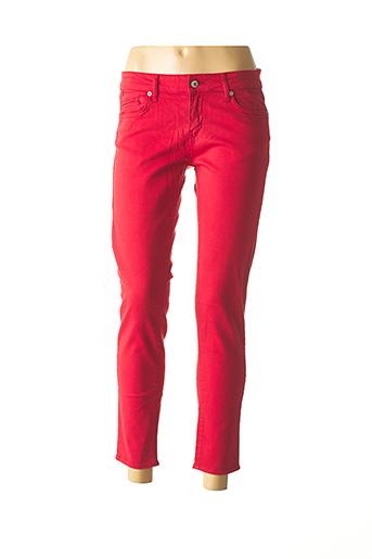 Pantalon casual rouge FIVE pour femme