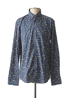 Chemise manches longues bleu DARIO BELTRAN pour homme