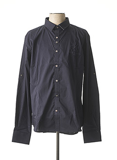 Chemise manches longues bleu IDOLS MAGAZINES pour homme