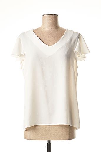 Blouse manches courtes blanc FALCATA pour femme