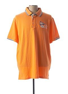 Polo manches courtes orange BLACK WELLIS pour homme