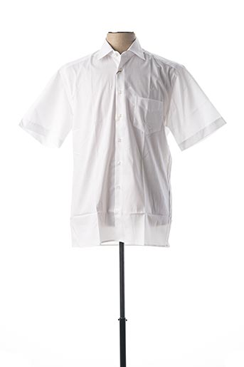 Chemise manches courtes blanc JUPITER pour homme