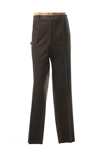 Pantalon casual marron FRANCOIS DEGASNES pour homme