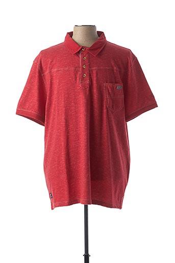 Polo manches courtes rouge FELLOWS pour homme
