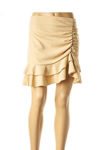 Jupe courte beige CONTEMPLAY pour femme
