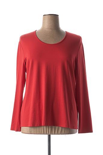 T-shirt manches longues rouge DORIS STREICH pour femme