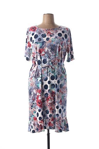 Robe mi-longue bleu BASSINI pour femme